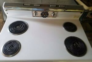 1960 S Ge Electric Stove In Good Working Condition Has A Warming Area Clean