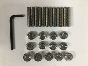 Stainless Steel Stud Kit Gm Th350 Th400 With Aluminum Pan With Allen Wrench