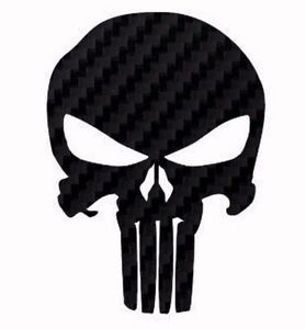 Punisher Sticker Skull Logo Decal Carbon Fiber American Made Usa Buy 2 Get1 Free