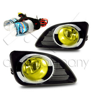 2010 2011 Toyota Camry Fog Light W Wiring Kit Hid Conversion Kit Yellow