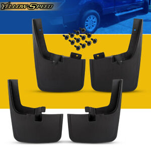4pcs Splash Guards Mud Flaps With Wheel Lips For Ford F150 2015 2018