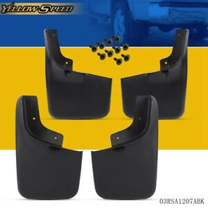 4 Pcs For 2004 2014 Ford F 150 Molded Splash Guards Mud Flaps New Front