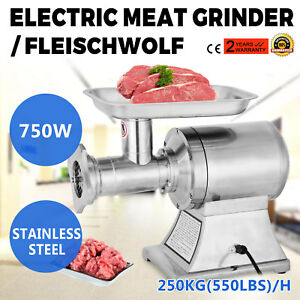 New Commercial Stainless Steel True 1hp Electric Meat Grinder