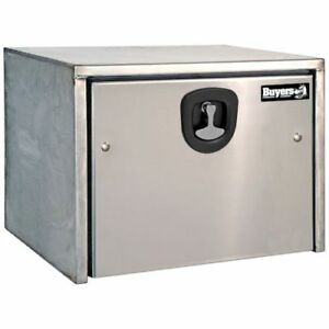 Buyers Products 1702605 Stainless Steel Toolbox W Polished Ss Door 18x18x36 In