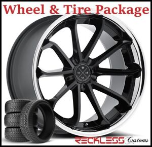 20 Blaque Diamond Bd23 Concave Black Wheels And Tires Fits Dodge Charger