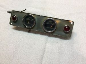 Vintage Classic Car Gauge Cluster Fuel And Amp With Warning Lights 1940 S