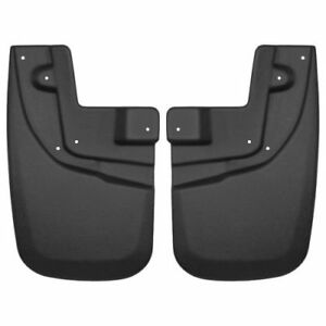 Husky Liners 56931 Front Mud Flaps Black For 2005 2015 Toyota Tacoma