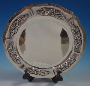 Aztec Rose By Maciel Mexican Sterling Silver Charger Plate 11 17 7 Ozt 1758