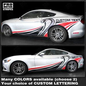 Ford Mustang 2015 2016 2017 Cobra Style Multi Color Side Stripes Choose Color