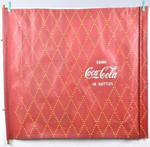 1930's-40's Coca Cola Canvas Advertising Banner,  36