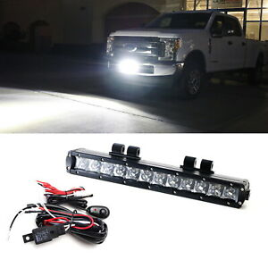 60w Cree Led Light Bar W Lower Bumper Mount Brackets Wiring For 17 up Ford F250