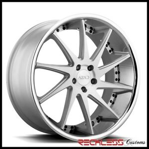 20 Azad Az23 Silver Concave Staggered Wheels Rims Fits Lexus Gs350 Gs450