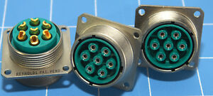 1 High Voltage Panel Mount Connector Reynolds 167 9711 New 7 Contacts Solder