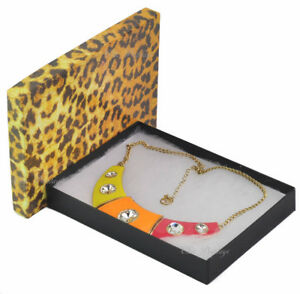 Lot Of 100 Leopard Box Boxes Cotton Filled Boxes Jewelry Box Necklace Set Box