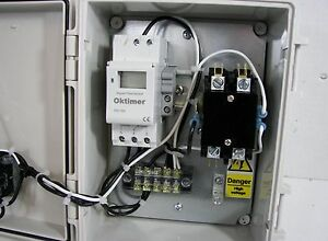 Digital Timer Control Panel With Contactor Relay 3 pole 20a Contactor