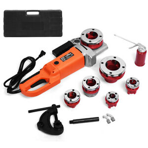 Newhd 2000w Portable Electric Pipe Threader 6 Dies Threading Machine 1 2 To 2