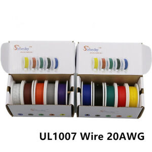 60m Ul 1007 20awg 10 Color Mix Box Package Electrical Wire Cable Line Airline