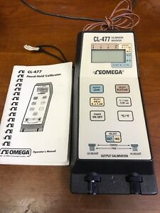 Omega Cl 477 Portable Hand held Calibrator Thermometer