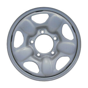 60162 Refinished Chevrolet Tracker 1998 1999 15 Inch Steel Wheel Silver Painted