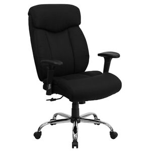 New Big And Tall Office Chairs Hercules Series Black Farbric Chair W Arm Rest