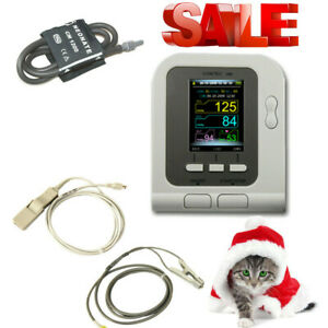 Digital Veterinary Blood Pressure Monitor Nibp Cuff With Spo2 Sensor dog cat pet