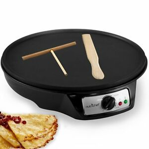 Crepe Maker Electric Machine Pancake Griddle Non stick Pan Cooking Breakfast