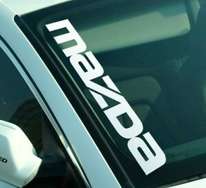 Mazda Side Decal Windshield Banner Sticker Car Window Sticker Graphic