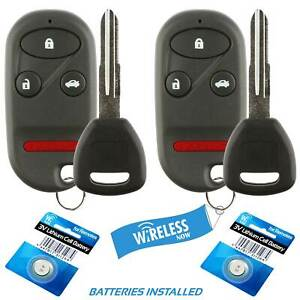 2 Car Fob Keyless Remote 4b For 1998 1999 2000 2001 2002 Honda Accord Key