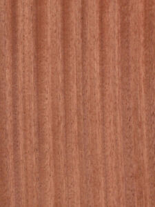 Ribbon Sapele mahogany Wood Veneer Paper Backer Backing 2 X 8 24 X 96