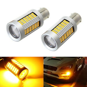 No Hyper Flash 25w Amber 7507 Canbus Led Bulbs For Front rear Turn Signal Light