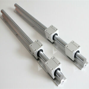 2pcs Shaft Sbr20 800 Linear Rail Rod Slide Guide Fully Supported With 4 Sbr20uu
