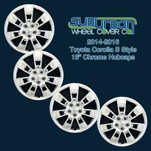 14 15 16 Toyota Corolla S Style 16 Chrome Hubcaps 523 16c Brand New Set 4