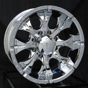 16 Inch Chrome Wheels Rims Gmc Chevy 2500 3500 Hd Dodge Ram 8x6 5 Lug Helo Maxx