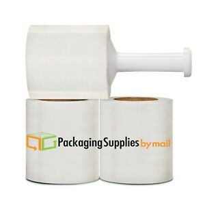 5 In X 1000ft 70 Gauge 36 Rolls Stretch Shrink Film Hand Wrap Handle