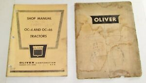 Oliver Oc 4 Oc 6 Oc 46 Shop Manual And Parts Book