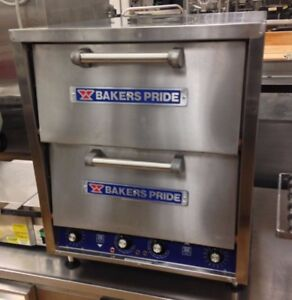 Bakers Pride P 44s Double Stone Deck Pizza Pretzel Oven Countertop Electric