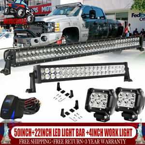 30inch 32 180w Led Work Light Bar Spot Flood Combo Offroad Boat Jeep Truck Rzr