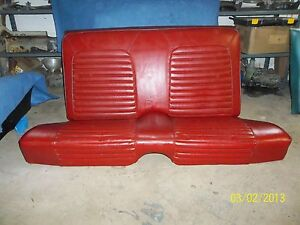 1965 1966 1967 Ford Mustang 2dr Coupe Rear Seat Oem
