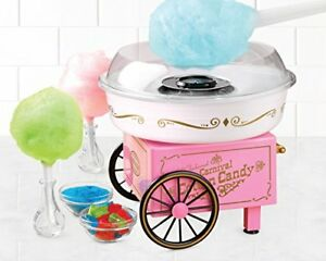 Nostalgia Electrics Cotton Candy Maker Fluffy Sugar Free Tabletop Birthday Party