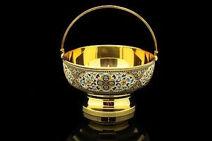 Perfect Silver Russian Amazing Full Silver Enamel New Product Sugar Cup