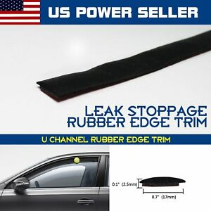 Car Rubber Edge Trim Strip Windshield Sunroof Front Rear Window Waterproof 30ft