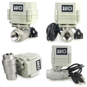 Bacoeng 1 2 Dn15 110vac Stainless Steel Motorized Ball Valve nc Electrical Ball