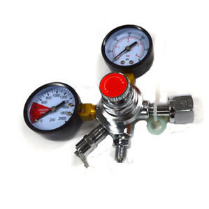 Co2 Double Gauge Beer Regulator W Shutoff Valve Kegerator new Free Shipping