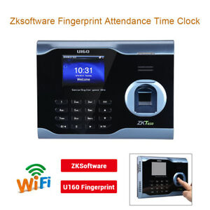 3 Tft Gui Screen Fingerprint Biometric Time Attendance Wifi Usb Anti fake Black