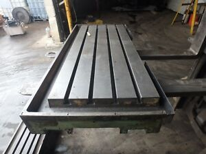 49 X 22 75 X 5 25 Cast Iron 5 T Slotted Steel Table Weld Welding Layout
