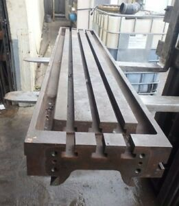 70 75 X 13 625 X 5 25 Cast Iron 3 T Slotted Steel Table Weld Welding Layout