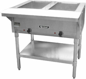 Adcraft 2 Bay Open Well Steam Table Model St 120 2