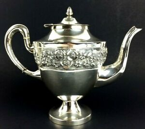 Vintage Maciel Mexico City Sterling Silver Tea Coffee Pot 37 Ozt
