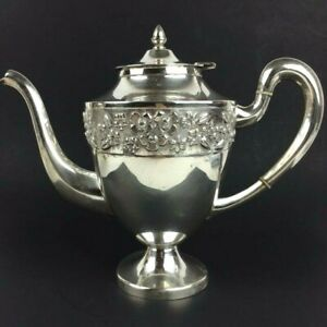 Vintage Maciel Mexico City Sterling Silver Tea Coffee Pot 36 5 Ozt