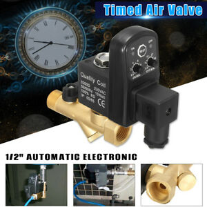 2pcs 1 2 Electronic Timed 2 Way Air Compressor Gas Tank Automatic Drain Valve
